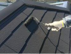 横浜市 リフォーム 屋根 塗り替え 戸建て 遮熱 上塗り2回目