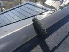 屋根 遮熱 棟板金 上塗り2回目 日本ペイント 口コミ