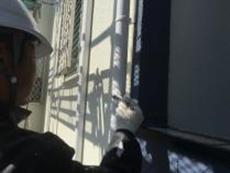金沢区 口コミ 塗装 シリコン 雨樋 竪樋 上塗り2回目