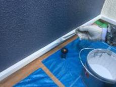 横浜市 口コミ リフォーム 金沢区 水切り塗装 上塗り2回目 シリコン 人気