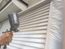 横浜市 戸建 リフォーム 雨戸 シリコン 吹付塗装 金沢区