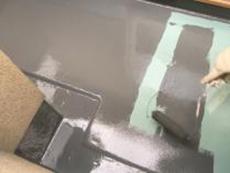 ベランダ 横浜市 塗り替え トップコート 防水 ウレタン 金沢区