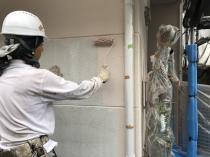日本ペイント 外壁 シリコン 横浜 栄区 中塗り1回目 ALC リフォーム 神奈川