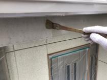横浜市 住宅塗装 破風 塗り替え シリコン 栄区