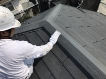 横浜市 栄区 塗装 リフォーム ケレン 棟板金 戸建住宅 屋根塗り替え