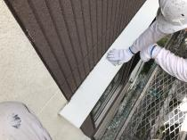 横浜市 ケレン 霧除け塗り替え シリコン塗装 栄区