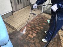 横浜市 塗装リフォーム タイル 床 高圧洗浄