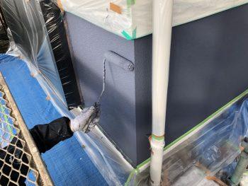 外壁 上塗り2回目 横浜市 インディフレッシュセラ 戸塚区 戸建