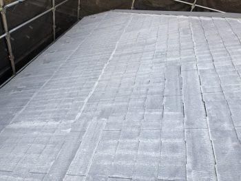 下塗り2回目 遮熱塗料 サーモアイ 日本ペイント 屋根塗装 横浜市