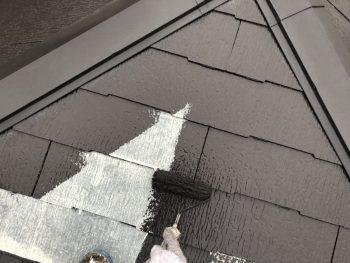磯子区 屋根塗装 上塗り1回目 遮熱 エコ 横浜市