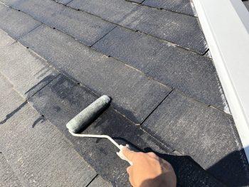 リフォーム 横浜市 屋根塗装 下塗り1回目