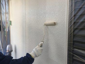 横浜市 プレミアム外壁塗装システム ダイヤモンドコート 日本ペイント 上塗り2回目 港南区