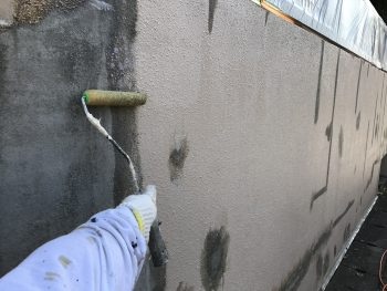 塀塗装 下塗り ダイヤモンドコート 高品質 プレミアム塗装 横浜市