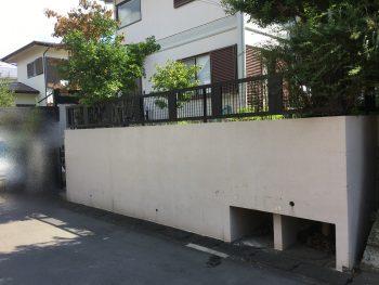 横浜市 住宅塗装 施工前 塀