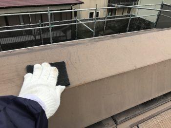 戸建住宅 棟板金塗装 ケレン作業 横浜市 港南区
