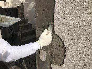 住宅塗装 横浜市 塀 下地補修 劣化 修繕 港南区 戸建