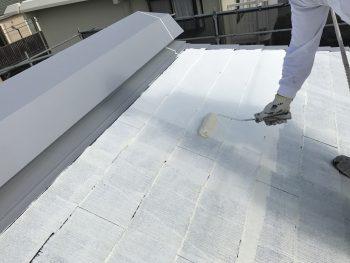 横浜市 屋根塗り替え 遮熱塗料 日本ペイント サーモアイ 下塗り2回目