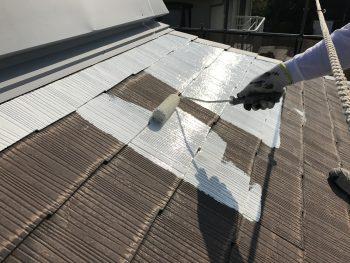 屋根塗装 横浜市 港南区 サーモアイ 日本ペイント 遮熱塗料 下塗り1回目