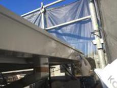 リフォーム 横浜市 軒樋塗装 上塗り2回目 シリコン