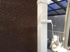 住宅塗装 雨樋 リフォーム 竪樋 上塗り1回目