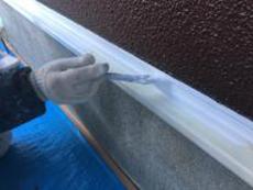 戸建 塗り替え 水切り 上塗り1回目 シリコン