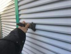 横浜市 塗装 シリコン 雨戸 吹付 清掃