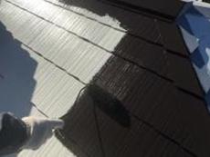 横浜市 屋根塗装 遮熱 上塗り1回目 泉区 リフォーム