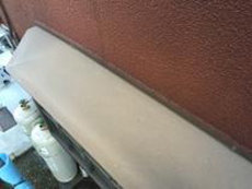 塗装 横浜市 シリコン 天端 出窓 施工前
