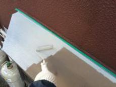 住宅塗装 横浜市 出窓 天端 錆止め 下塗り
