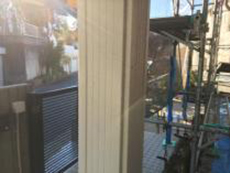 横浜市 塗り替え 玄関 柱 施工前