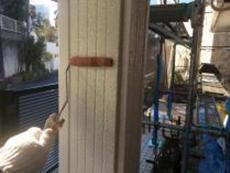 玄関柱 塗装 シリコン シーラー 下塗り 横浜市