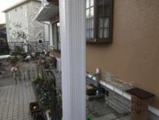 住宅 塗り替え リフォーム 玄関 シリコン 柱 施工後 横浜市