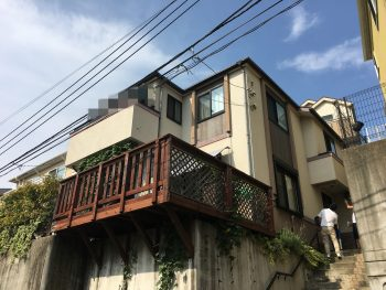住宅塗装 磯子区 外壁 屋根 施工前 横浜市