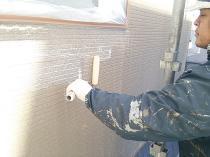 横浜市西区O様邸住宅塗り替え外壁目止め作業