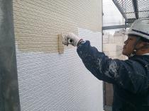 横浜市西区O様邸外壁塗装上塗り1回目