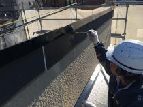 横浜市西区O様邸破風板塗装下塗り