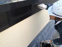 横浜市西区O様邸破風板塗装上塗り2回目