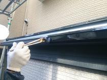 横浜市西区O様邸雨樋塗装上塗り1回目
