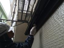 横浜市西区O様邸雨樋塗装上塗り2回目