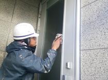 横浜市西区O様邸外壁塗装後窓清掃