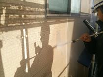 横浜市西区O様邸外壁塗装前高圧洗浄