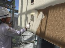 横浜市磯子区N様邸外壁塗装上塗り1回目
