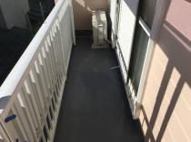 横浜市鶴見区I様邸ベランダ防水作業