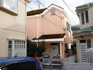 横浜市鶴見区I様邸外壁塗装前カラーシミュレーション画像