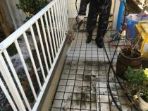 横浜市鶴見区I様邸外壁塗装前高圧洗浄作業