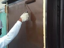 鎌倉市 雨戸 戸袋 上塗り2回目 日本ペイント シリコン 横浜市 住宅塗装