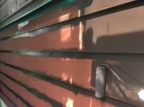 リフォーム 塗り替え 横浜市 鎌倉市 外壁 羽目板 シリコン 上塗り1回目
