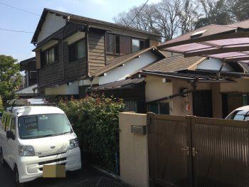 戸建 住宅 塗り替え リフォーム 施工前 鎌倉市