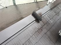 遮熱 横浜市 鎌倉市 屋根 棟板金 上塗り2回目 塗装 リフォーム