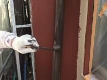 住まい 横浜市 戸建 鎌倉市 上塗り1回目 シリコン 竪樋 塗り替え リフォー